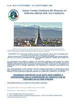 BOLLETTINO N. 20 DAL 07 SETTEMBRE AL 12 SETTEMBRE 2020