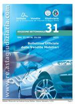 Bollettino ufficiale delle vendite Mobiliari dal 22/09/2021 al 29/09/2021