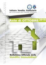 Bollettino Ufficiale delle Aste Giudiziarie Sezione Immobiliare Ottobre 2018