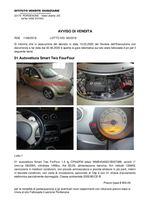 AVVISO DI VENDITA 01 Autovettura Smart Two ForFour - RGE 1168/19 Trib. Pordenone Lotto 85/19