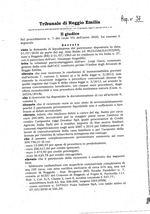 Decreto procedura di liquidazione del patrimonio RG 7-2020
