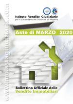 Bollettino Ufficiale delle Aste Giudiziarie Sezione Immobiliare Marzo 2020