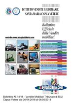 Bollettino mobiliare n.18/18 vendite dal 30/04/18 al 06/05/18