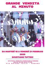 GRANDE VENDITA AL MINUTO DAL 18 AL 21 FEBBRAIO 2020 IN VERONA VIA CHIODA N. 123/A