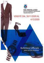 BOLLETTINO VENDITE DAL 30/11/2020 AL 4/12/2020