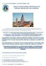 BOLLETTINO N. 31 DAL 23 AL 28 NOVEMBRE 2020