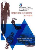 BOLLETTINO VENDITE DAL 25/11/2020 AL 27/11/2020