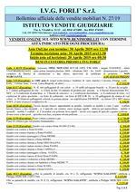 Bollettino aste OnLine termine 30 Aprile 2019