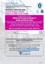 Bollettino Fallimento 40/21 Attrezzatura per Lavanderia