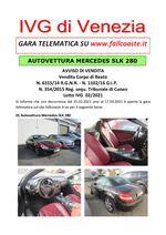 AVVISO DI VENDITA dal 25.02.2021 al 17.03.2021 CORPI DI REATO Mercedes SLK280 - Trib. Cuneo - Lotto 02-2021