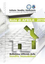 Bollettino Ufficiale delle Aste Giudiziarie Sezione Immobiliare Aprile 2019
