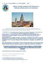 BOLLETTINO N. 34 DAL 14 AL 19 DICEMBRE 2020