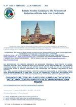BOLLETTINO N. 7 DAL 15 AL 20 FEBBRAIO 2021