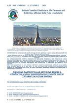 BOLLETTINO N. 15 DAL 12 APRILE 17 APRILE 2021
