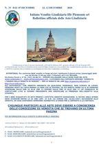 BOLLETTINO N. 33 DAL 7 AL  12 DICEMBRE 2020