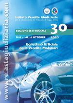 Bollettino ufficiale delle vendite Mobiliari dal 21/10/2020 al 28/10/2020