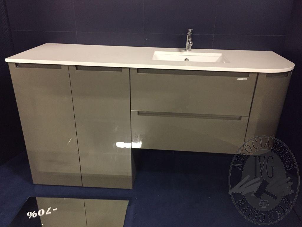 Collectionteseo mobili da bagno specchiera in cristallo bordo