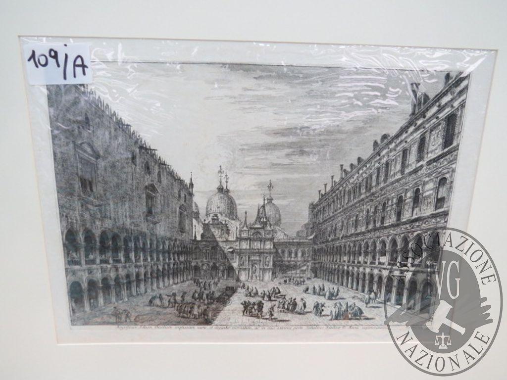 Lotto 109A :: Acquuaforte Cortile interno del palazzo ducale ...