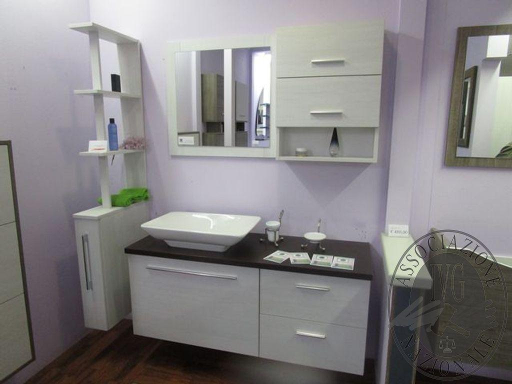 Mobile bagno in legno decape bianco completo di lavabo
