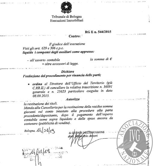 Bologna (BO) via Guerrazzi, 28/5 - APPARTAMENTO CON CANTINA - PROCEDURA ESTINTA