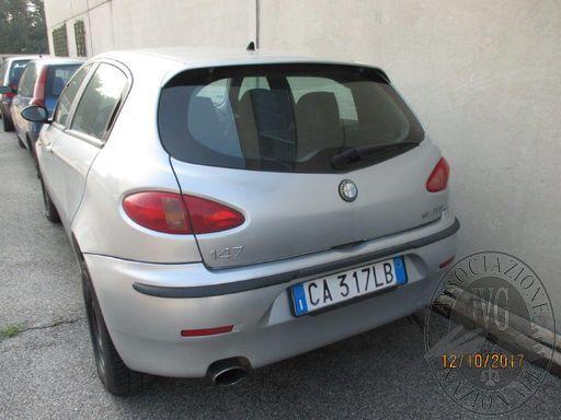 LOTTO 1 RIF. 10: ALFA ROMEO 147 TG. CA317LB IMM. 2002 GASOLIO CIL. 1910 SENZA DOCUMENTI (trascrizioni: fallimento)