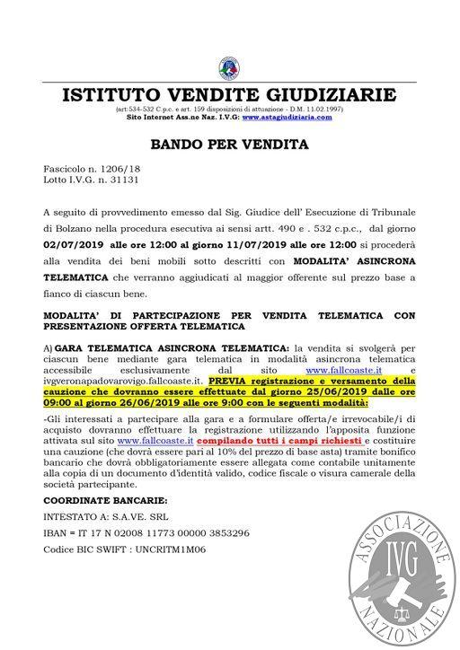 EDIZIONE VERONA BOLLETTINO MOBILIARE N. 59 GARA TELEMATICA ASINCRONA DAL 02 AL 11 LUGLIO 2019_page-0002.jpg