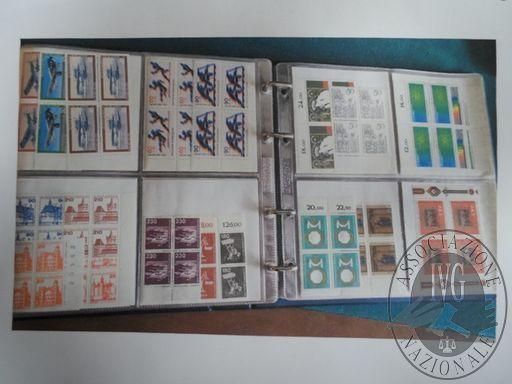 Francobolli da collezione: Repubblica democratica tedesca (lotto 115) un raccoglitore con 2.350 francobolli nuovi in foglietti