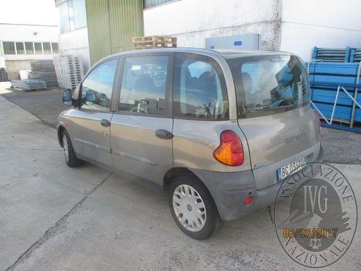 LOTTO 1 RIF. 12 FIAT MULTIPLA TG. BG035PD IMM. 1999 GASOLIO CIL. 1910 SENZA DOCUMENTI (trascrizioni:--)