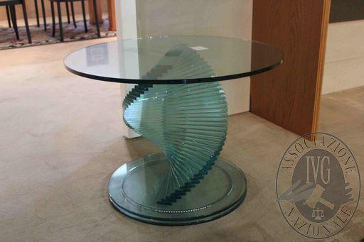 Rif 276 ZONA 5 QTA1 Tavolino Tonelli mod. Elica in cristallo