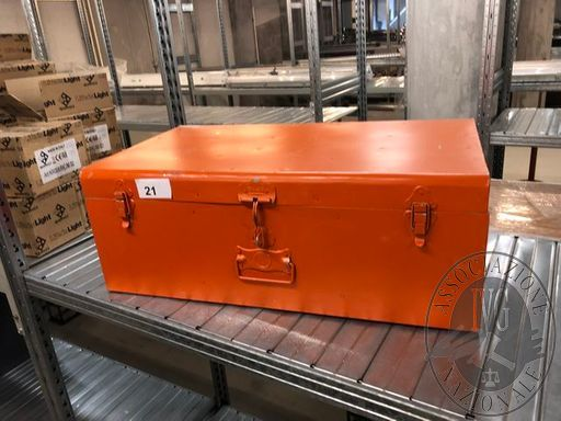 Lotto n.21 n. 3 Bauletti Alluminio Arancioni