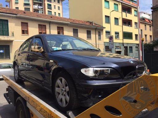 Autovettura marca BMW mod. 320 targata DH588MW, n° di telaio *WBAAS71090CH48606*, immatricolata il 28/02/2003, cilindrata 1995 cc., Kw 110, alimentata a gasolio, cambio meccanico, rispetta il regolamento 2001/1/CE , chilometri indicati sullo strumento di