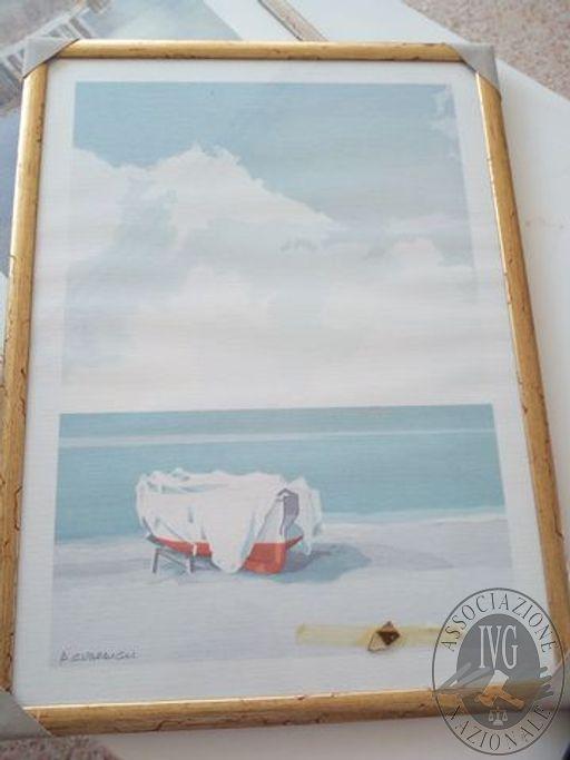 Quadro raffigurante barca su spiaggianQuadro raffigurante Acropolis, firma MangerinStampa di Les Menines, firma Picasso, il tutto senza cornicenQuadro raffigurante spiaggia con barchenQuadro raffigurante casetta nella naturanQuadro raffigurante Rose, firm