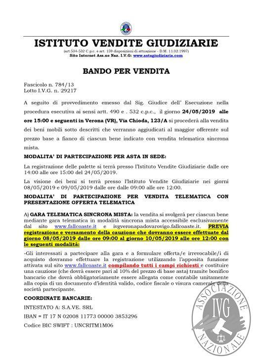 BOLLETTINO MOBILIARE EDIZIONE VERONA N. 37 GARA TELEMATICA SINCRONA MISTA IL GIORNO 24 MAGGIO 2019- ASTA STRAORDINARIA_page-0002.jpg