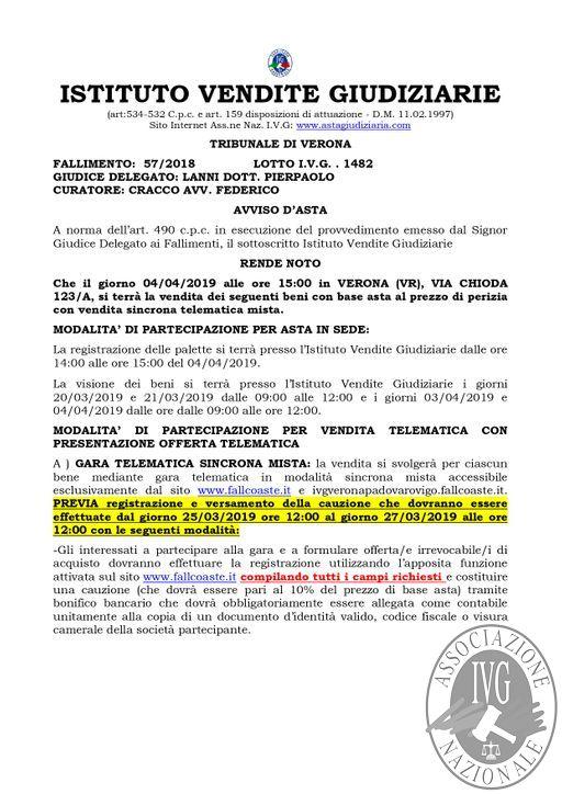 BOLLETTINO N. 25 EDIZIONE VERONA GARA TELEMATICA SINCRONA MISTA IL GIORNO 04 APRILE 2019_pages-to-jpg-0002.jpg