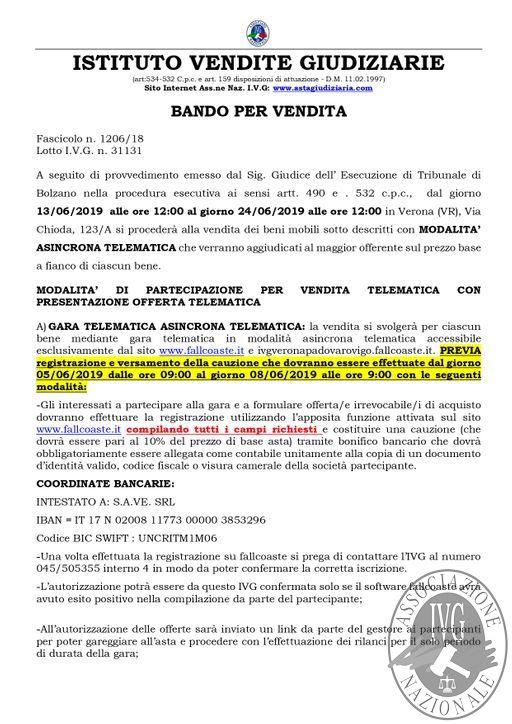 OKEDIZIONE VERONA BOLLETTINO MOBILIARE N. 54 GARA TELEMATICA ASINCRONA DAL 13 AL 24 GIUGNO 2019_page-0002.jpg