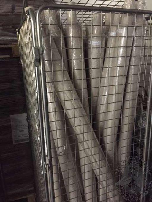 Lotto 1: n.26 rotoli di fodere 100% Nylon. Colore grigio chiaro
