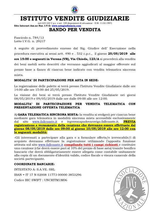 BOLLETTINO MOBILIARE EDIZIONE VERONA N. 38 GARA TELEMATICA SINCRONA MISTA IL GIORNO 25 MAGGIO 2019 - ASTA STRAORDINARIA_page-0002.jpg
