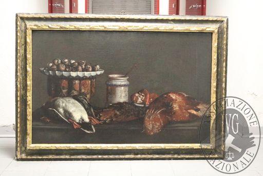 """RGE 3730/2017 Tribunale di Bergamo - Lotto 3: Un dipinto olio su tela di cm 58×93 del Pittore Evaristo Baschenis, raffigurante """"Natura morta"""""""
