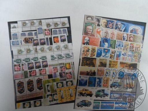 Francobolli da collezione: Repubblica democratica tedesca e Russia (lotto 123) un raccoglitore con 790 francobolli nuovi (parte in foglietti)