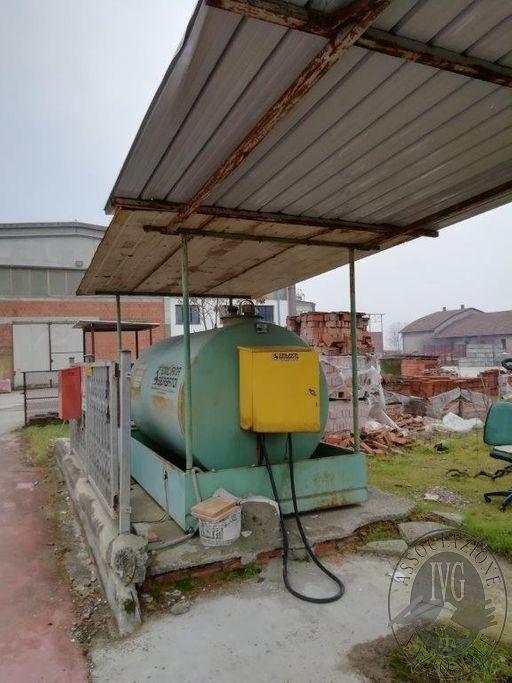 RIF. 009: SERBATOIO DIESEL DA 5.000 LT COMPRENSIVO di ferro strutture