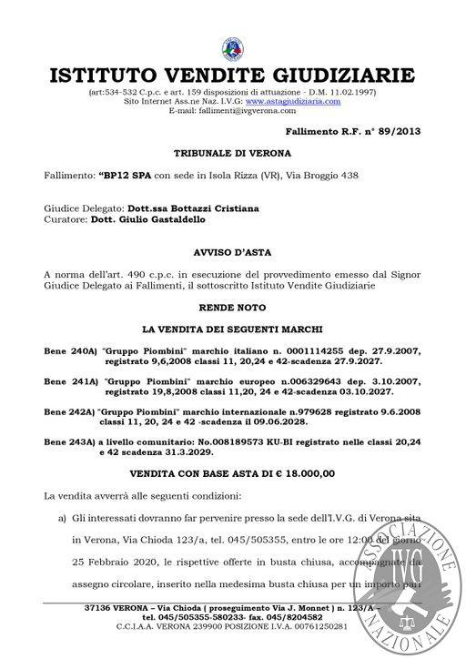 BOLLETTINO MOBILIARE N. 4 EDIZIONE VERONA -VENDITA MARCHI- GARA IL GIORNO 25 FEBBRAIO 2020 H. 12.00_page-0002.jpg