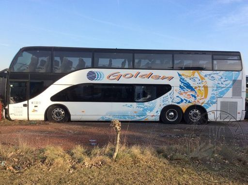 LOTTO DI 5 AUTOBUS COSI' COMPOSTO: Autobus EOS COACH E180Z - targato DG 998 MW - anno di prima immatricolazione in Germania 2001 con targa ROWP975 - telaio nr. YA9CE2P21YB180814 - nr. posti complessivi 51 - ATTENZIONE l'autobus da visura risulta intestato