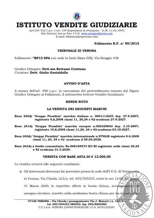 BOLLETTINO MOBILIARE N. 14 - EDIZIONE VERONA - VENDITA MARCHI GARA IL GIORNO 31 MARZO 2020 H.12.00_page-0002.jpg