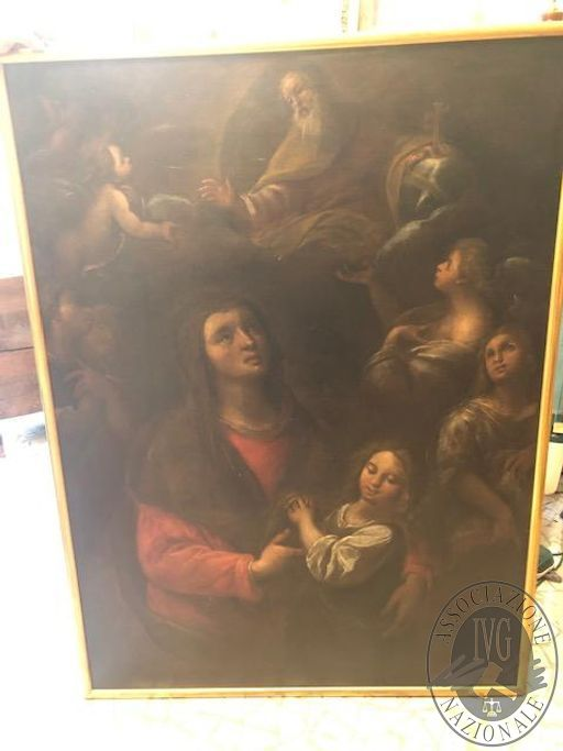 Dipinto olio su tela raffigurante Sant'Anna e la Vergine riconducibile all'artista Carlo Francesco Nuvolone (Milano 1608/1609 – 1661) e databile intorno al 1650. Dimensioni 131,5 x 97,5